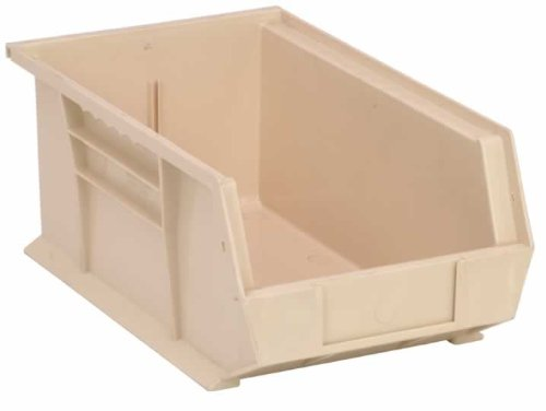 Quantum QUS241IV Ivory Ultra Stack and Hang Bin, 13-5/8