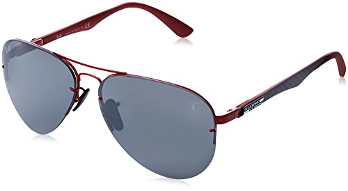 (Ray-Ban Men's 0rb3460mf009h259metal Man Polarized Iridium Aviator Sunglasses, Black, 59 mm)