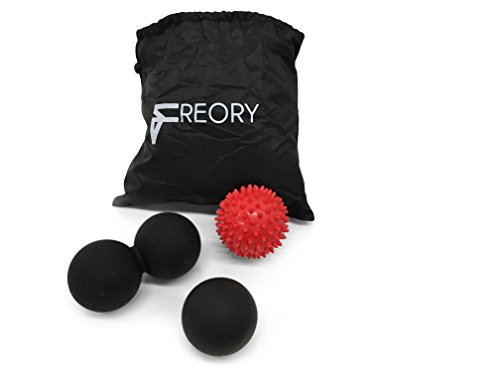 Freory Muscle Massage Ball Set. 3 Foot Massagers for Plantar Fasciitis, Deep Tissue and Myofascial Trigger Point - Code All Promo Brands Glasses