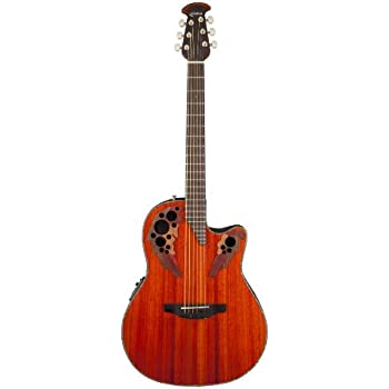 Ovation Celebrity Elite Plus Quilted Maple Top Acoustic-Electric Guitar,...