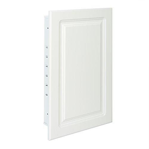 (American Pride ST9912RPR1 - Recessed White Raised Panel Door, Steel Tech Body Medicine Cabinet 16