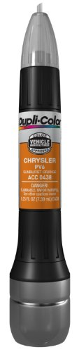 Dupli-Color ACC0438 Sunburst Orange Chrysler Exact-Match Scratch Fix All-in-1 Touch-Up Paint - 0.5 oz.