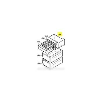 LG - Cajón Superieur tamaño pequeño para frigorífico LG: Amazon.es: Hogar