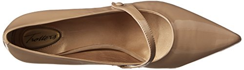 Trotters Womens Petra Wedge Pump Brevetto Nudo