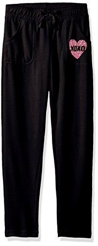 - XOXO Girls' Big Velour Pant, Black, 7/8