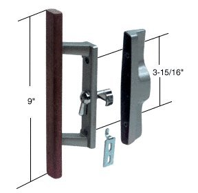 Attractive Sliding Glass Patio Door Handle Set With Internal Lock For Viking Doors,  3 15