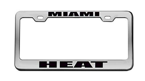 - Miami Heat Sports Team Chrome License Plate Frame Tag Black