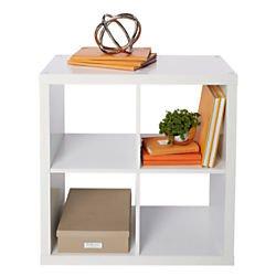 Brenton Studio Cube Bookcase, 4-Cube, Small, 27 5/16in.H x 27 3/8in.W x 14 7/8in.D, White