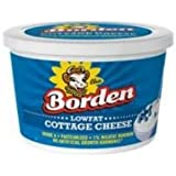 Borden Low Fat Cottage Cheese, 16 Fluid Ounce -- 6 per case.