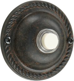 Quorum 7-305-44 Door Chime, Toasted Sienna (Knocker Door Mount Surface)