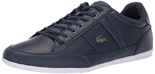 Lacoste Men's Chaymon Sneaker navy/white 8.5 Medium - Sneakers Lacoste Mens