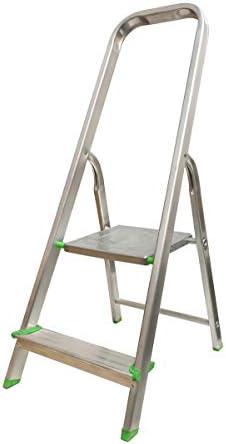 Escalera Tijera Plegable 2 Peldaños en Aluminio. Hecho en Europa: Amazon.es: Bricolaje y herramientas