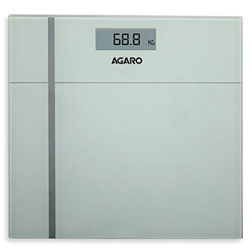 AGARO WS 503W Ultra-Lite Digital Personal Body Weighing Scale with Step-On Technology & Anti Skid Tempered Glass…
