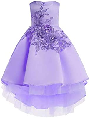 Kids Party Dresses For Girls Embroidery Princess Dress Flower
