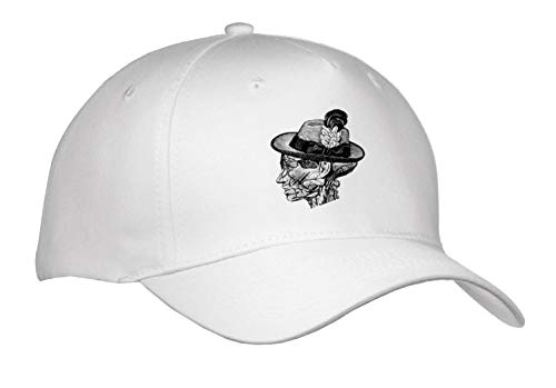 3dRose Russ Billington Designs - Yankee Doodle Dandy- Vintage Anatomical Design in Black and White - Caps - Adult Baseball Cap (Cap_294378_1) ()