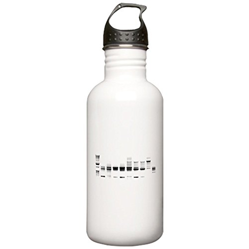 CafePress - DNA Gel B/W Stainless Water Bottle 1.0L - Stainless Steel Water Bottle, 1.0L Sports (Pcr Gel Electrophoresis)