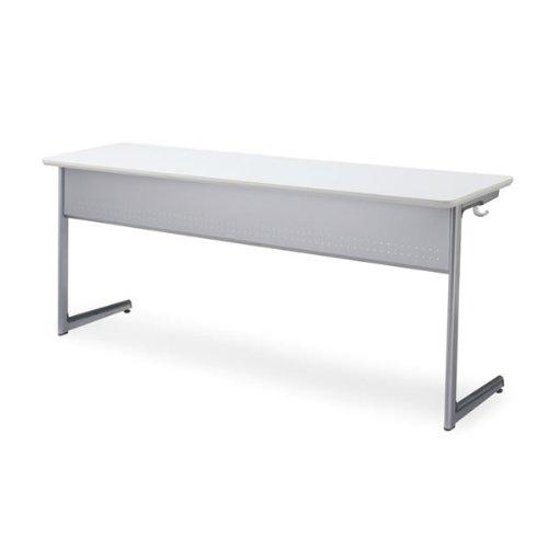 コクヨ Campus Desk 教育施設用家具 キャンパスデスク(W1800) 3人用 ワイヤー棚 スチール幕板 奥行き450タイプ 本体カラー:SAW/天板カラー:PAW B00AT812OGSAW-PAW