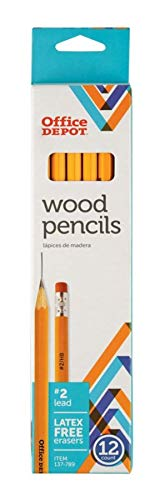 (Office Depot Brand Wood Pencils, 2 HB Medium Lead, Yellow, Pack of 12)