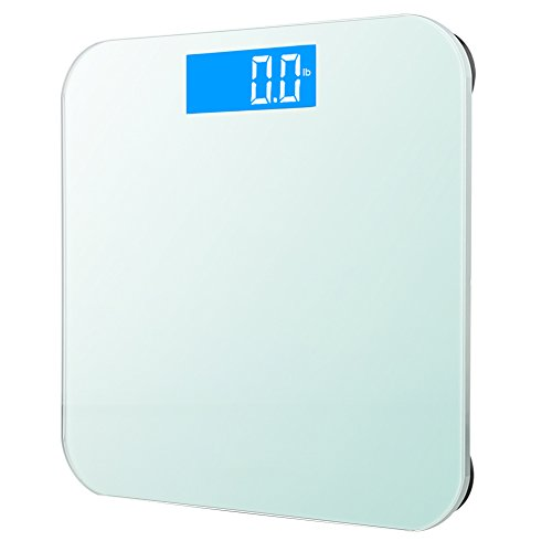 GDEALER Body Scale 400lb/180kg Bathroom Scale Digital Body Weight Bathroom Scale with 6mm Tempered Glass Surface, Step-On Technology, High Precision, Extra Large Lighted Lcd Display by GDEALER