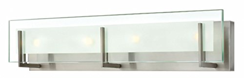 Hinkley 5654BN Contemporary Modern Four Light Bath from Latitude collection in Pwt, Nckl, B/S, Slvr.finish, from Hinkley