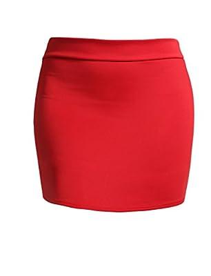 J. LOVNY Women's Elastic Waistband Stretch Bodycon Mini/Midi Length Pencil Skirt Made in USA Black