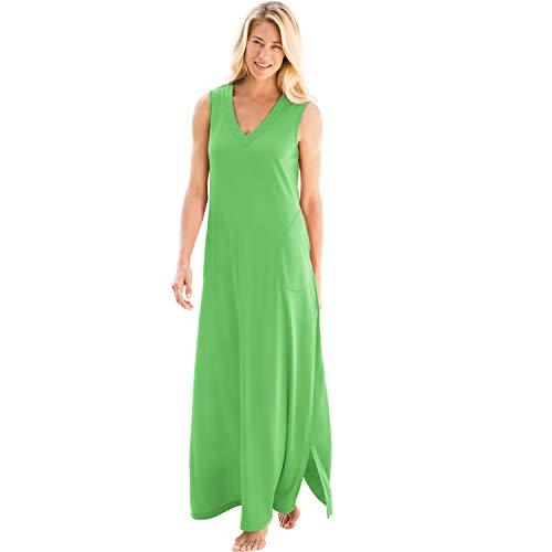 Dreams & Co. Women's Plus Size Trapeze V-Neck Lounger - Bright Aqua, L ()