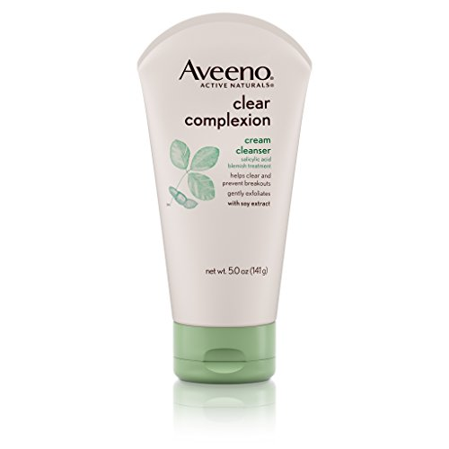 Aveeno Clear Complexion Cream Facial Cleanser With Salicylic Acid Blemish Treatment, 5 Fl. Oz