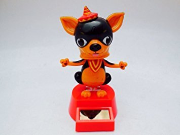 Solar Powered Dancing Chihuahua Brown (Dark Brown)