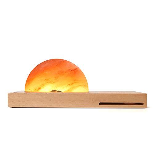SODIAL Bedside Light, Salt/Amber Us Plug Light, Charger, Sound Amplifier, Pen And Mobile Phone Holder
