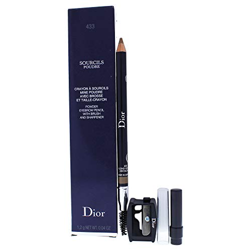 Christian Dior Crayon Sourcils Poudre Eye Brow Pencil for Women, 433 Ash Blonde, 0.04 Ounce