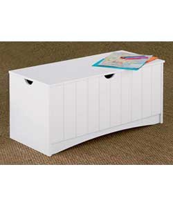 Large Haven White Effect Toy Storage Box Trunk Bench Cabinet Blanket  Organiser