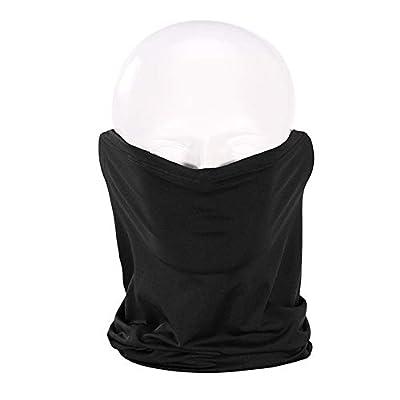 Tekijun Seamless Bandanas Multifunctional Scarf, Unisex Cycling Face Mask Outdoor Sports Protection Head Neck Scarf Bandana Black: Toys & Games