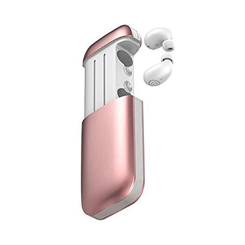 TWS B5ブルートゥースヘッドセット5.0充電式ワイヤレスイヤホンミニBluetoothヘッドセット (Color : Pink) B07PG642KQ