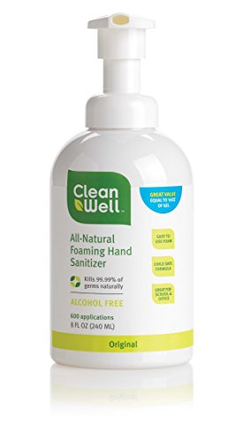 CleanWell All Natural Foaming Hand Sanitizer product image