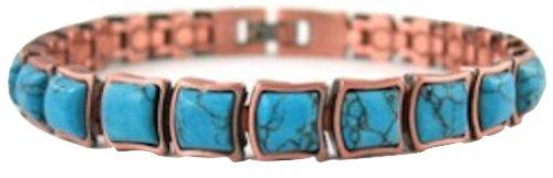Copper Womens Magnetic Bracelet Turquoise