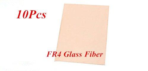URBEST 10Pcs FR4 Glass Fiber Plate 100 x 70 x 1.5mm Copper Universal PCB Circuit Board (Pcb Plate)