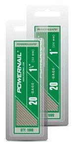 "Powernail 1"" 20 Gage Hardwood Flooring L-cleat Nails Box of 5,000"
