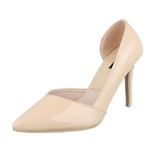 2df9703c30fd3 ItalDesign High Heel Damen Schuhe TSpange Pfennig/Stilettoabsatz ...