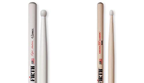 Vic Firth Corpsmaster Signature Snare - Ralph Hardimon Nylon Tip with Vic Firth 5A Nylon Tip Nova Drumsticks
