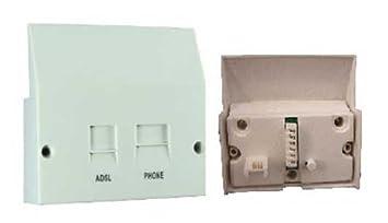 fdl adsl face plate splitter for nte5 bt master socket **separates