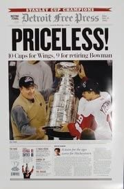 Amazon Com Priceless 2002 Detroit Red Wings Free Press Poster Sports Collectibles