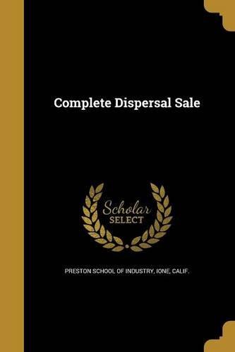 Complete Dispersal Sale pdf epub