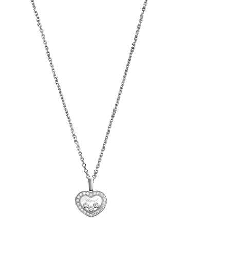 Chopard Happy Diamonds Icons Pendant 18-Carat White Gold and Diamonds - 79A611-1201