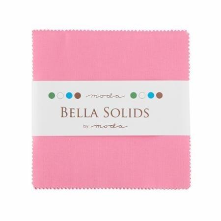 Bella Solids 30s Pink Moda Charm Pack By Moda Fabrics; 42-5