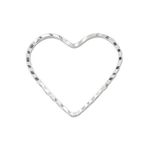 Beadalon Quick Link Heart 20 by 22-1/-Millimeter Diamond Cut Silver, Plated, 14