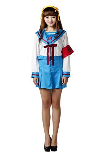 Mtxc Women's Suzumiya Haruhi Cosplay School Uniform Winter Outfit