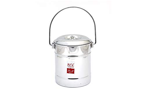 KCL TP Milk Pot1 Stainless Steel Milk Pot With Lid   1 L, 1 Pieces, Silver
