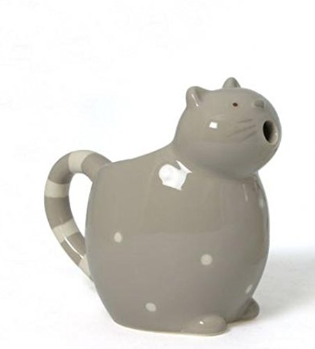 Cat Shaped Ceramic Creamer, brown