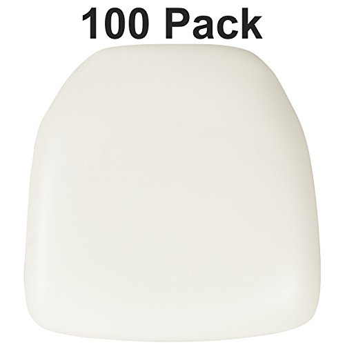 Flash Furniture 100 Pk. Hard White Vinyl Chiavari Chair Cushion