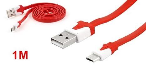 Amazon.com: eDealMax USB 2.0 Rojo Tipo A a 5 Micro Cable de ...